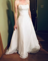 Strapless wedding dress sz 2 Oklahoma City, 73139