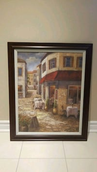 brown wooden framed painting of house 536 km