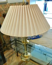 Brass table lamp with shade  Falmouth, 04105