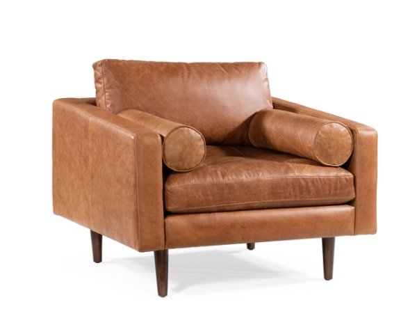 Swell New Poly Bark Napa Lounge Chair Cognac Ibusinesslaw Wood Chair Design Ideas Ibusinesslaworg