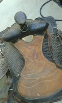 black and brown leather horse saddle Milton, 17847