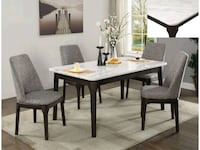 REAL MARBLE- Brand New 5pc. Casual Dining Set Austin