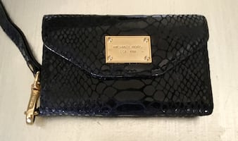 Authentic $125 Retail MICHAEL KORS SnakeSkin iPhone 1-4 WALLET/Case