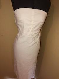 Women's casual strapless dress white cotton Lafayette, 70503