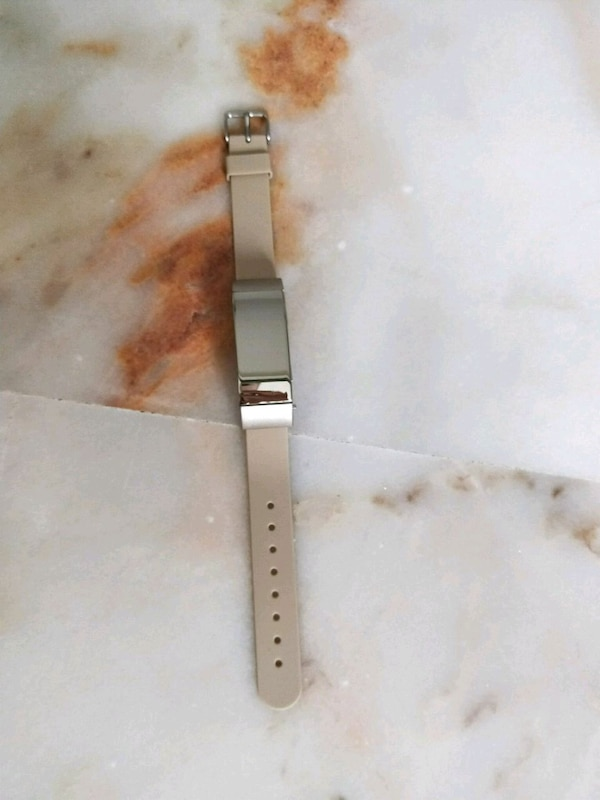 silver-colored analog watch with link bracelet