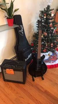 Dean Guitar with case and Mustang  Amplifier