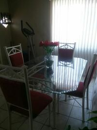 rectangular glass top table with six chairs dining set Phoenix, 85006