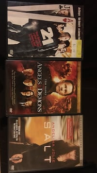 three assorted DVD cases