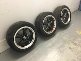 """2002 and later Mustang GT 17""""wheels and tires (3) $375"""