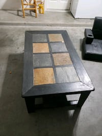 rectangular black wooden coffee table Las Cruces