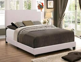 Nera Khaki Upholstered Queen Bed cama queen
