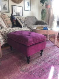 Purple Tufted Footstool Santa Monica, 90404