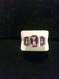 Amethyst Trilogy Ring. Dumfries, 22026