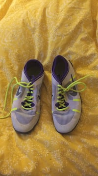 pair of blue-and-yellow Nike running shoes San Marcos, 92078