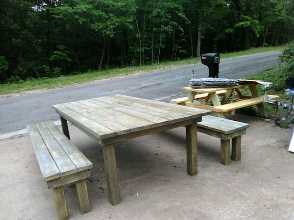 Strange Big Built To Look Vintage Picnic Table Chair Onthecornerstone Fun Painted Chair Ideas Images Onthecornerstoneorg