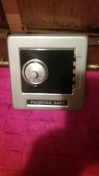 Gray and black frontier safe vault