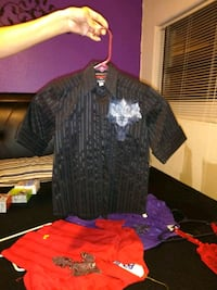 black and gray striped polo shirt Lubbock, 79423
