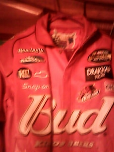 Budweiser leather jacket size xl ,price is negotia