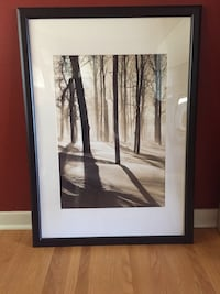 painting of trees with black frame Edmonton, T6G 0C6