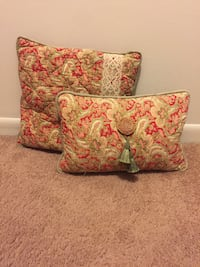 2 handmade Pillows: sage, rust, and ivory color Southfield, 48034