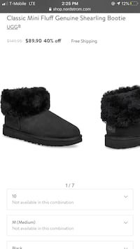 Classic Mini Fluff Genuine Shearling Bootie UGG®  Size 10