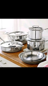 ALL CLAD STAINLESS STEAL (D5) 10 PIECE SET Portland, 97266