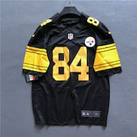 NIKE NFL PITTSBURGH STEELERS PLAYER BROWN JERSEY IN BLACK YELLOW