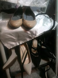 One pair of flat 2 pairs of heels, 10 a pair 30 for all