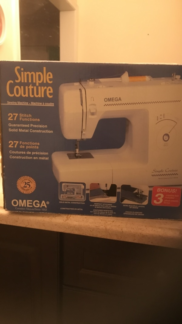 Used Simple Couture Omega Sewing Machine Box For Sale In Oakville Classy Omega Stitch Art Sewing Machine