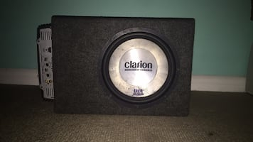 Clarion 400W amp and sub