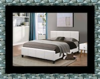 White platform bed with mattress and box College Park