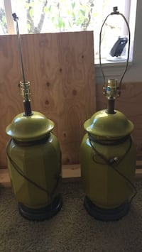 two green and white table lamps Tigard, 97223