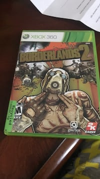 Xbox 360 Borderlands 2 game case