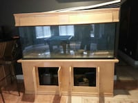 brown wooden framed glass cabinet EDMONTON