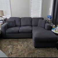 FREE DELIVERY AVAILABLE TODAY - DARK GREY SECTIONAL COUCH - GREAT COND