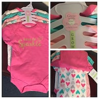 New 5 Grow with Me Body Suits / two 0-3m / three 3-6M Smyrna, 37167