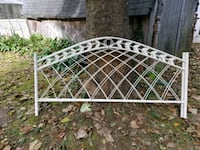 white metal bed frame with mattress Freehold, 07728