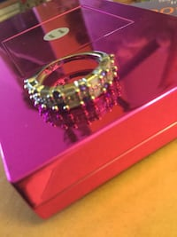 Sterling Silver and purple gemstone ring * Multi Sapphire gemstones very classy and pretty Alexandria, 22311