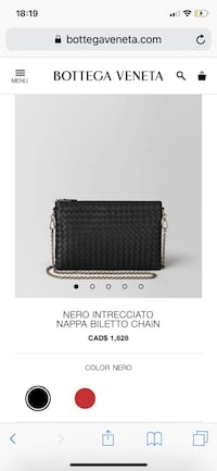 Bottega Veneta: Nero Intrecciato Napa Bileto Chain Richmond, V6Y 2N7
