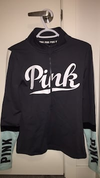 victoria's secret pink zip up sweater  Kelowna, V1X