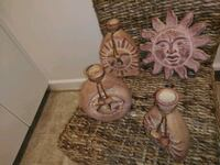Clay sun wall decor and bottles set Portsmouth, 23707