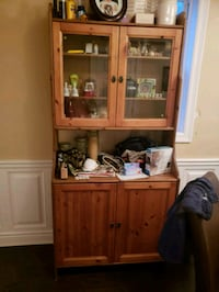 brown wooden cabinet with hutch Welland, L3B 3L1