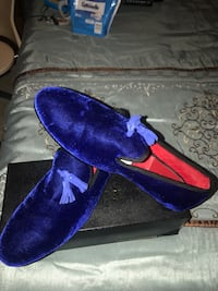 Ferucci Blue Suede Loafers Size 13 Herndon, 20171