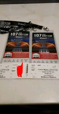 Grey Cup and tailgate party tickets  Calgary, T1Y 4G9