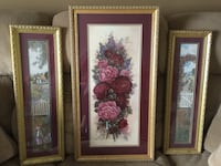 Set of three wall decor
