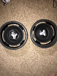 """Dual 10"""" Shared Vented Carpeted Subwoofer Enclosure with Subwoofers Canton, 30115"""