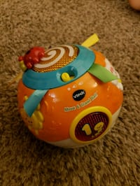 orange and teal VTech Move & Crawl Ball toy Romeoville, 60446