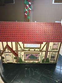 Red, white, and brown wooden house miniature North Providence, 02911