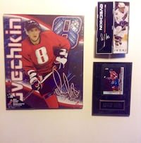 Set of Ovechkin Collectible Plaques Star Stick in Hinged Tube London