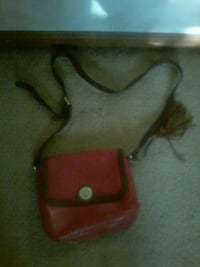 Red and Brown Purse with Sash